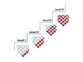 Level I, Level II, Level III, Level IV