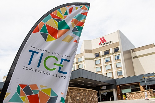 TICE banner outside the Marriott Crabtree
